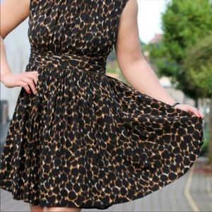 Boden Size 2 Dress Brown, Black, and white